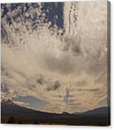 Dramatic Sky Over Mount Shasta Canvas Print