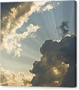 Dramatic Sunbeams And Storm Clouds Maine Photo Poster Print Canvas Print