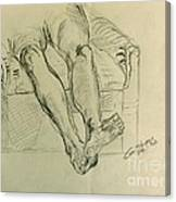 Drawing Class. Legs And Feet Canvas Print