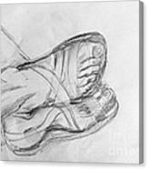 Drawing Class. Sandaled Feet Canvas Print