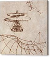 Drawings By Leonardo Divinci Canvas Print