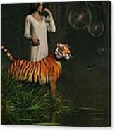 Dreams Of Tigers And Bubbles Canvas Print