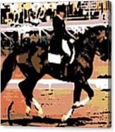 Dressage Competition Canvas Print