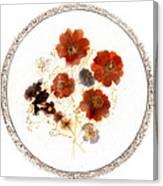 Dried Flower Art Canvas Print