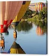 Drifting Along On The Yakima River Canvas Print