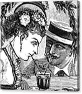 Drinking, 1875 Canvas Print