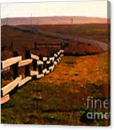 Driving Down The Lonely Highway . Study 2 . Painterly Canvas Print