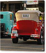 Driving Off Into History Canvas Print