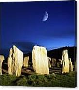 Drombeg, County Cork, Ireland Moon Over Canvas Print