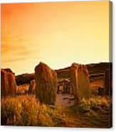 Drombeg Stone Circle, Near Glandore, Co Canvas Print