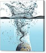 Drowning Earth, Conceptual Image Canvas Print