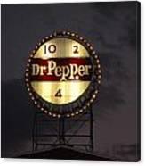 Dr.pepper Sign Canvas Print