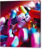 Drug Pills And Capsules Canvas Print