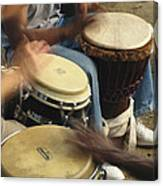 Drummers Of Varied Backgrounds Join Canvas Print