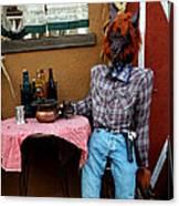 Drunk Werewolf Diner Canvas Print