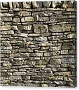 Dry Stone Wall, Dorset Canvas Print