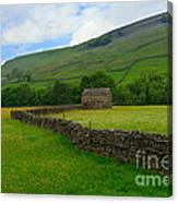 Dry Stone Walls And Stone Barn Canvas Print