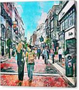 Dublin Grafton Street Canvas Print