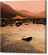 Dubois Sunset Canvas Print