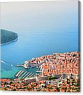 Dubrovnik Aerial View Canvas Print