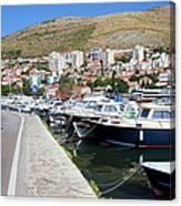 Dubrovnik Cityscape And Harbor Canvas Print