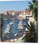 Dubrovnik Croatia Port Canvas Print