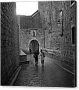 Dubrovnik In The Rain Canvas Print
