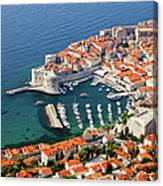 Dubrovnik Old City Aerial View Canvas Print