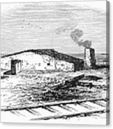 Dugout Home, 1871 Canvas Print
