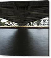 Duluth Lift Bridge Under 2 Canvas Print