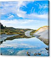 Dunes At The Beach Side During Morning  Canvas Print