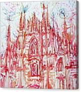 Duomo City Of Milan In Italy Portrait Canvas Print