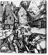 Durer: Prodigal Son, 1496 Canvas Print