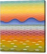 Dusk At Lake Balaton Canvas Print