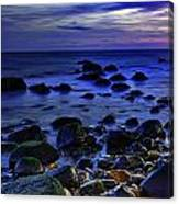 Dusk At Montauk Point Canvas Print