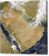 Dust And Smoke Over Iraq And The Middle Canvas Print