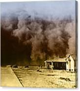 Dust Storm, 1930s Canvas Print