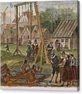 Dutch & Native American Trade Canvas Print