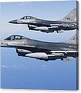 Dutch F-16ams During A Combat Air Canvas Print