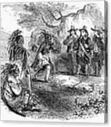 Dutch-native American Fur Trade Canvas Print