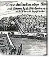 Dutch Recapture Of New York, 1673 Canvas Print