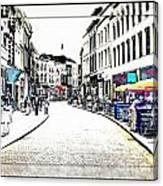 Dutch Shopping Street- Digital Art Canvas Print