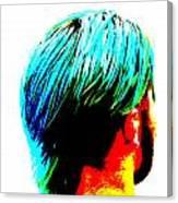 Dyed Hair Man Canvas Print