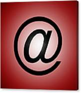 E-mail Symbol Canvas Print
