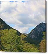 Eagle Cliff Seen Froom Boise Rock In Franconia Notch Canvas Print