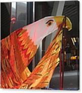 Eagle On The Ship Canvas Print