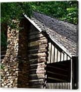 Early 19th Century Log Cabin Canvas Print