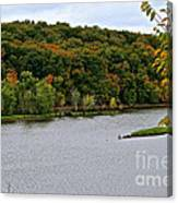 Early Autumn Shoreline Canvas Print