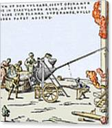 Early Firefighting Equipment, 1569 Canvas Print
