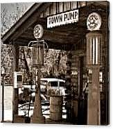 Early Gas Station Canvas Print
